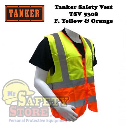 Tanker Safety Vest TSV5308 - Fluorescent Yellow Orange