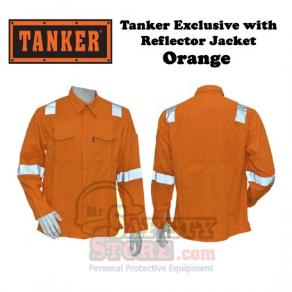 Tanker Exclusive with Reflector Jacket - Orange