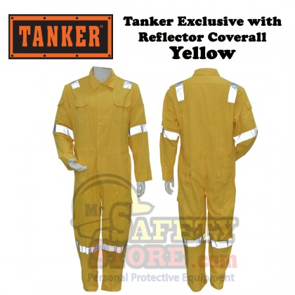 Tanker Exclusive with Reflector Coverall - Yellow