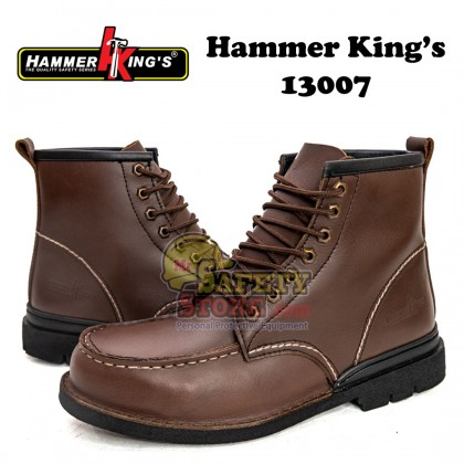 Hammer King 13007 Brown High-Cut Boot Laced