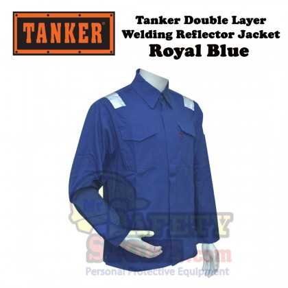 Tanker Double Layer Welding Jacket- Royal Blue (M-4XL)