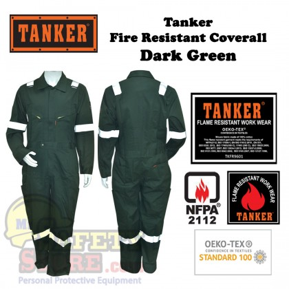 Tanker Fire Resistant Coverall - Dark Green (S-5XL)